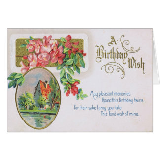 Fancy Birthday Card with Gorgeous Red Roses