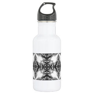 Fancy Black and White Pattern 532 Ml Water Bottle