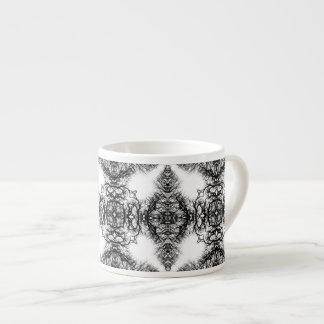 Fancy Black and White Pattern Espresso Mug