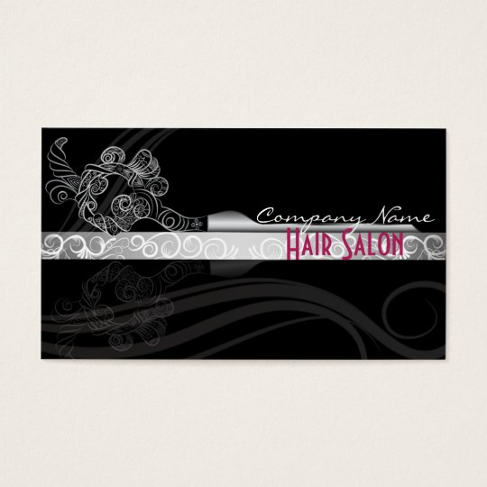 Fancy black hair salon business/gift cards