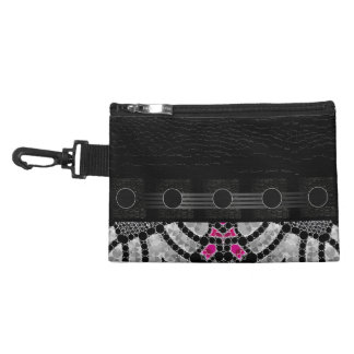 Fancy Black Pink Abstract Accessories Bags