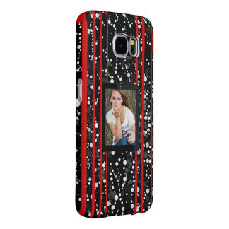 Fancy Black Red Cheetah Replace Image Samsung Galaxy S6 Cases