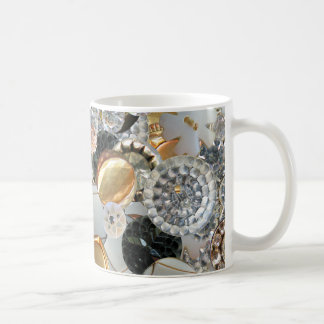 Fancy Bling Buttons Collage Mugs