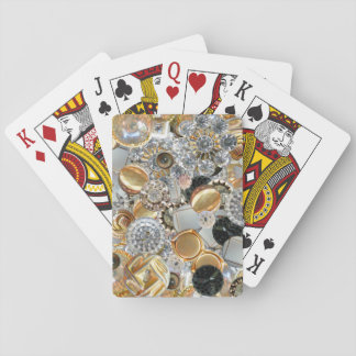 Fancy Bling Buttons Collage Playing Cards