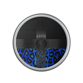 Fancy Blue Cheetah Print Speaker