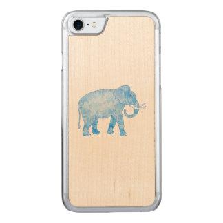 Fancy Blue Patterned Elephant Carved iPhone 7 Case