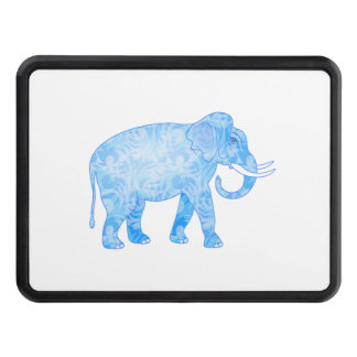 Fancy Blue Patterned Elephant Trailer Hitch Cover