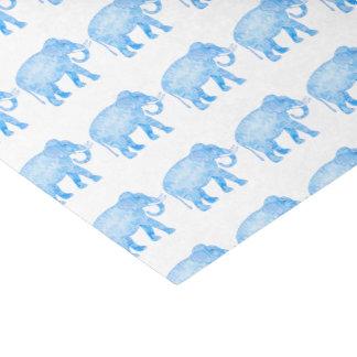 Fancy Blue Patterned Elephant Tissue Paper