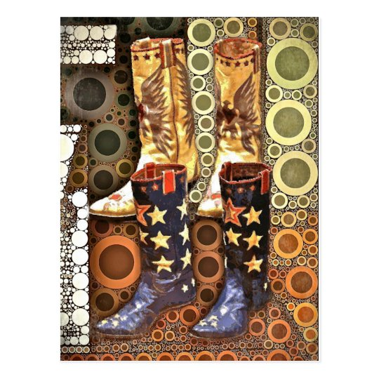 Fancy Boots Postcard
