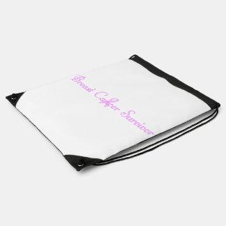 Fancy Breast Cancer Survivor Cinch Bags
