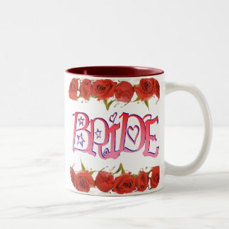 Fancy Bride (1) Rose Rows Two-Tone Coffee Mug