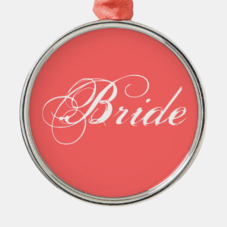 Fancy Bride On Coral Ornament