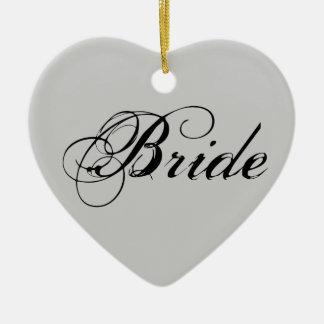 Fancy Bride On Grey Ornament