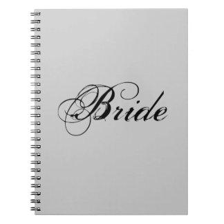 Fancy Bride On Grey Notebooks