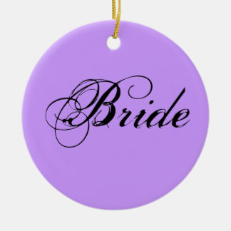 Fancy Bride On Lavender Ornament