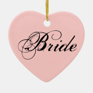 Fancy Bride On Pink Christmas Ornaments