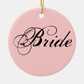 Fancy Bride On Pink Christmas Tree Ornaments