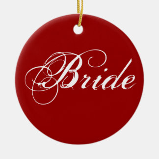 Fancy Bride On Red Christmas Ornament