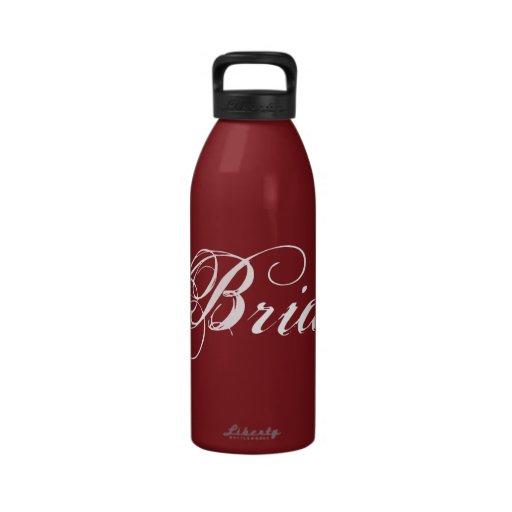 Fancy Bride On Red Water Bottle