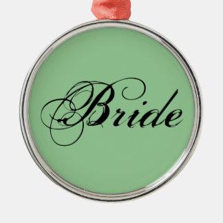 Fancy Bride On Sage Christmas Ornaments