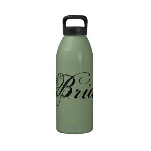 Fancy Bride On Sage Reusable Water Bottles