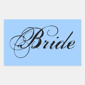 Fancy Bride On Sky Rectangular Sticker