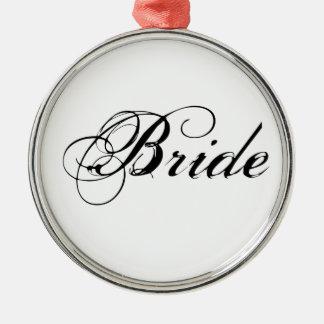 Fancy Bride On White Ornament