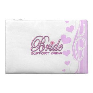 fancy bride support crew wedding bridal party fun travel accessory bag