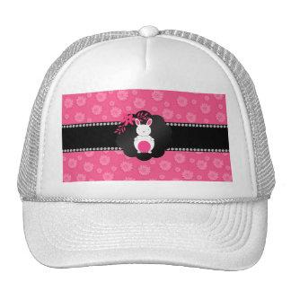 Fancy bunny pink flowers hat
