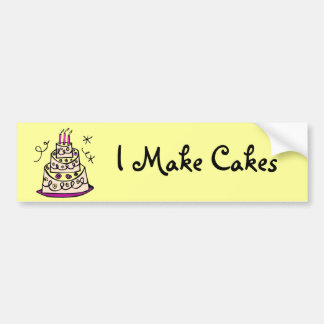 Fancy Cake Bumper Sticker