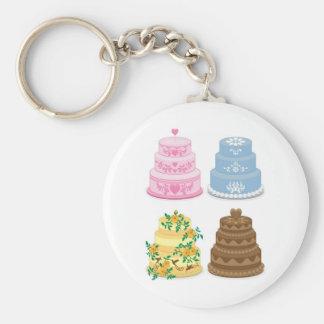 Fancy cakes basic round button key ring