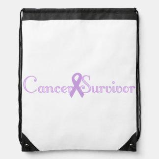 Fancy Cancer Survivor Drawstring Backpacks