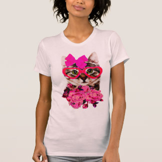 fancy cat,cute cat,cats,cat,animal face T-Shirt