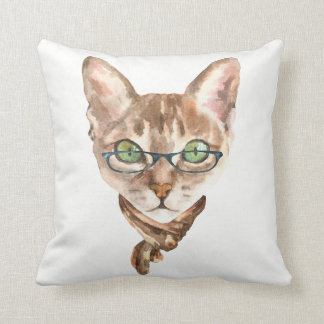 Fancy Cat Pillow 5 with Customizable Background
