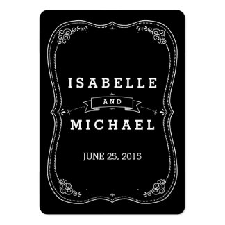 Fancy Chalkboard Vintage Wedding Gift Tag Business Card Templates