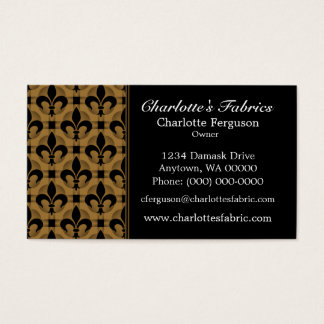 Fancy Chic Business Card, Honey Beige Business Card