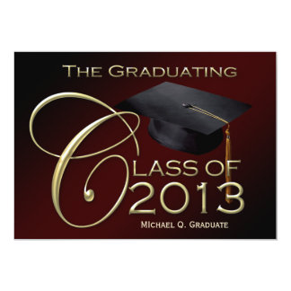 Fancy Class of 2013 Maroon Graduation Announcement