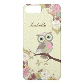 Fancy Cocking Head Owl in Flowers iPhone 7 Plus iPhone 8 Plus/7 Plus Case