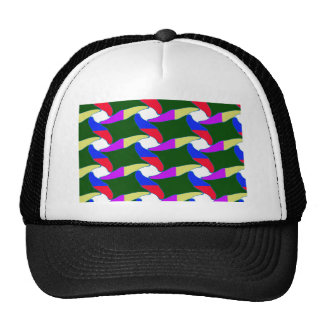 Fancy Colorful Paper Craft Ropes Print on shirts Cap