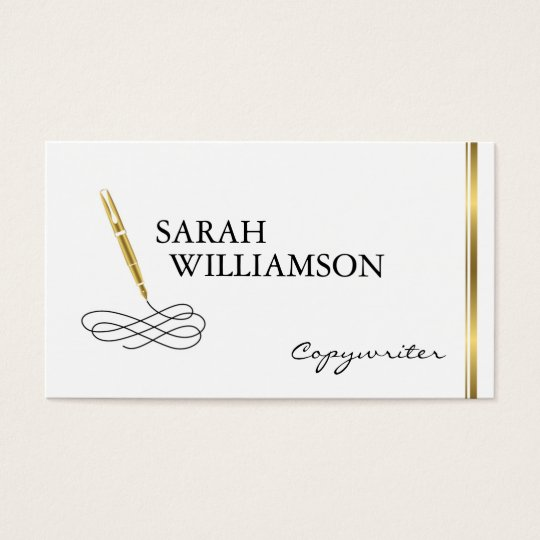 Fancy Copywriter Business Card