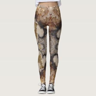 Fancy Crazy Lace Agate Rock Photo Designed Leggings