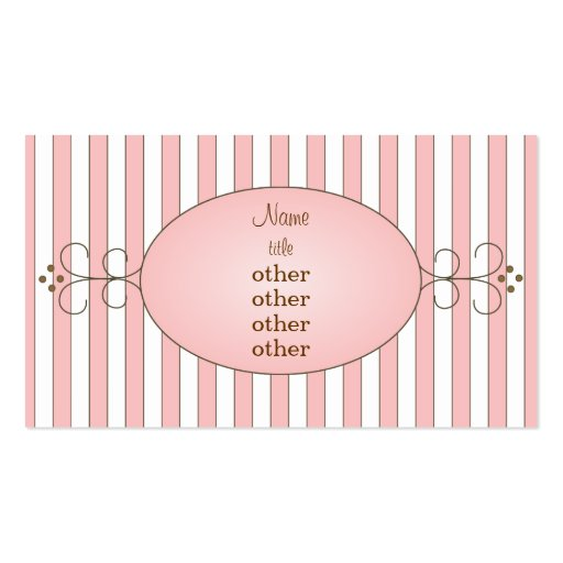 fancy cupcake business card templates zazzle. Black Bedroom Furniture Sets. Home Design Ideas