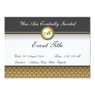 Fancy Custom Monogram Formal Invitation