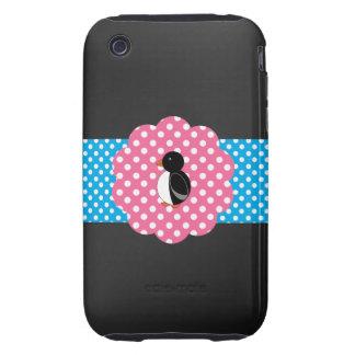 Fancy cute penguin tough iPhone 3 cover