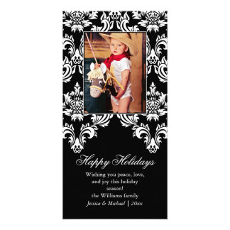 Fancy Damask Holiday Card