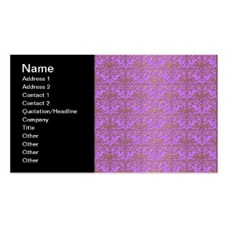 Fancy Damask Pattern in Purple and Gold Pack Of Standard Business Cards