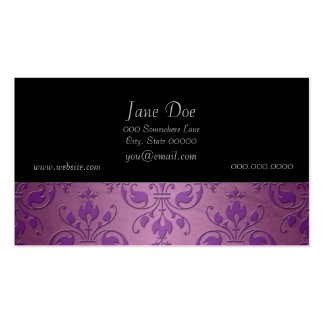 Fancy Damask Purple over Mauve Pink Pack Of Standard Business Cards