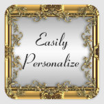Fancy, Decorative Gold Frame Stickers