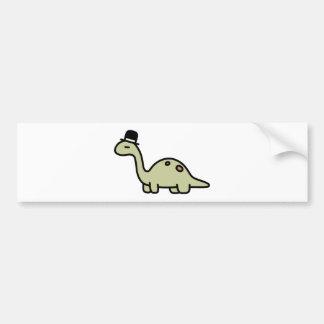 Fancy Dinosaur Bumper Sticker