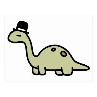 Fancy Dinosaur Postcard